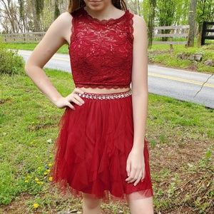 Cranberry 2-piece Prom or Homecoming dress